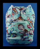 Dirt Bikes on Aqua 'Printed Pretty' Nappy!