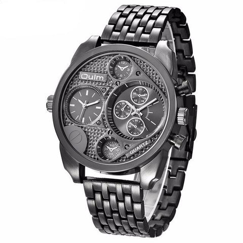 Men's Luxury Brand Full Steel Quartz Watch