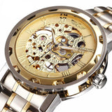 Men's Classic Golden Mechanical Watch [With Color Variants]