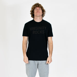 Virginity Rocks Army Black Tee