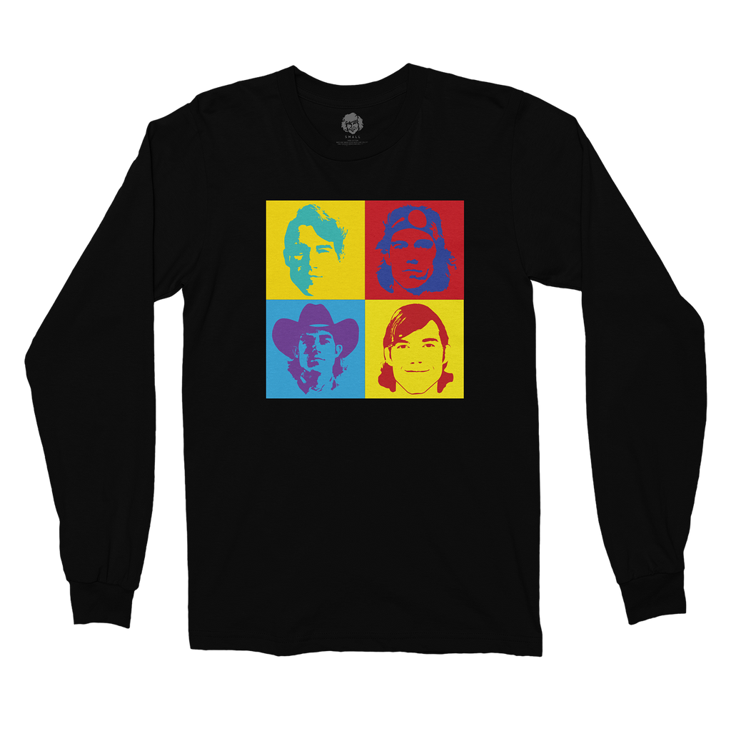 4 Faces Black Long Sleeve