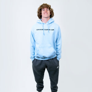Legalize Eating Ass Light Blue Hoodie