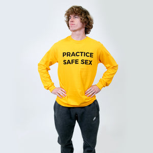 Practice Safe Sex Long Sleeve Gold