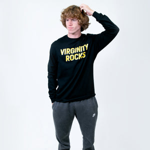 Virginity Rocks Long Sleeve Black