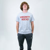Virginity Rocks Heather Grey Tee