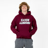 Virginity Rocks Mirrored Maroon Hoodie