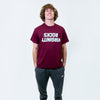 Virginity Rocks Mirrored Maroon Tee