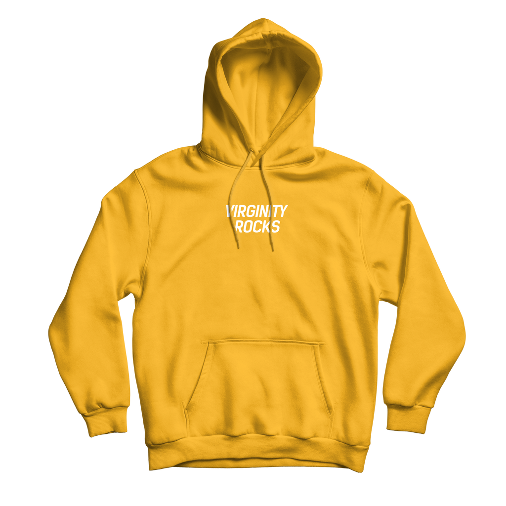 Virginity Rocks Event Gold Hoodie