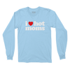 I Heart Hot Moms Light Blue Long Sleeve