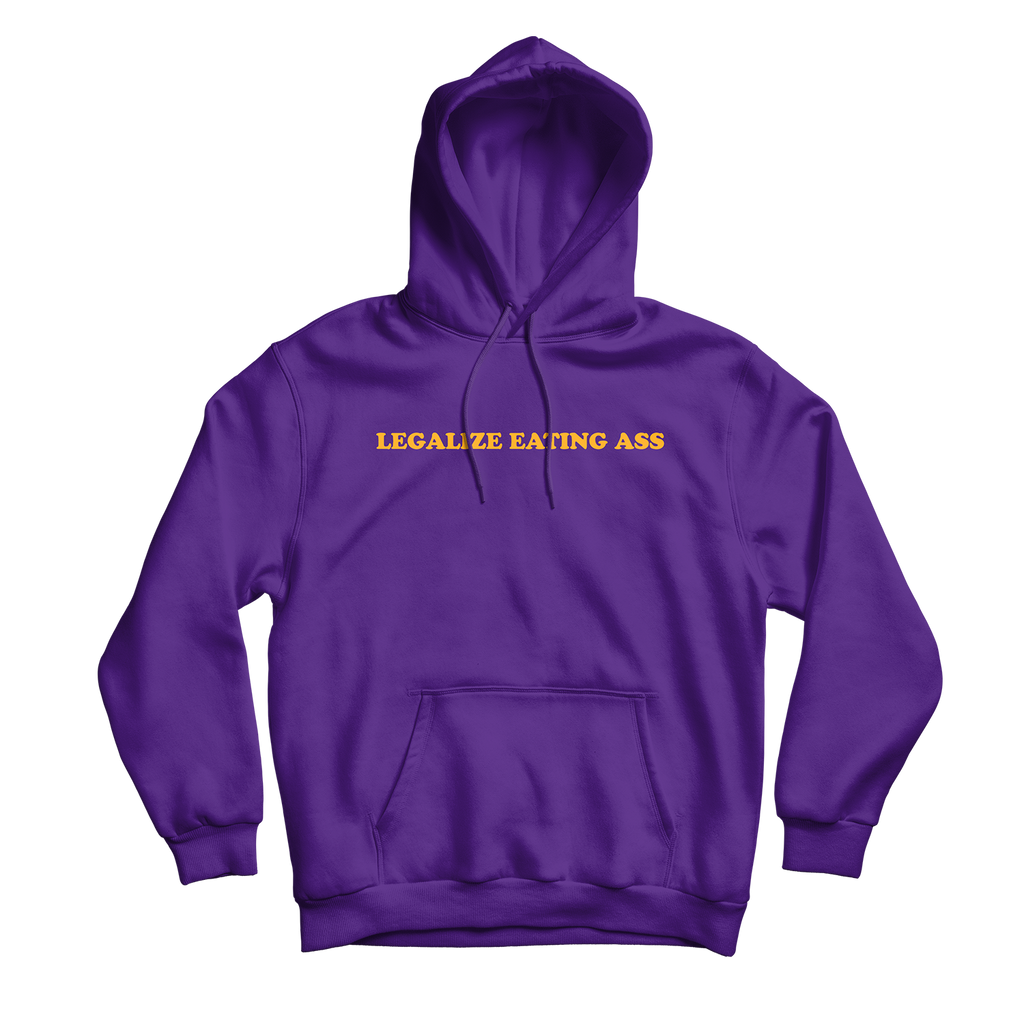 Legalize Eating Ass Hoodie Purple