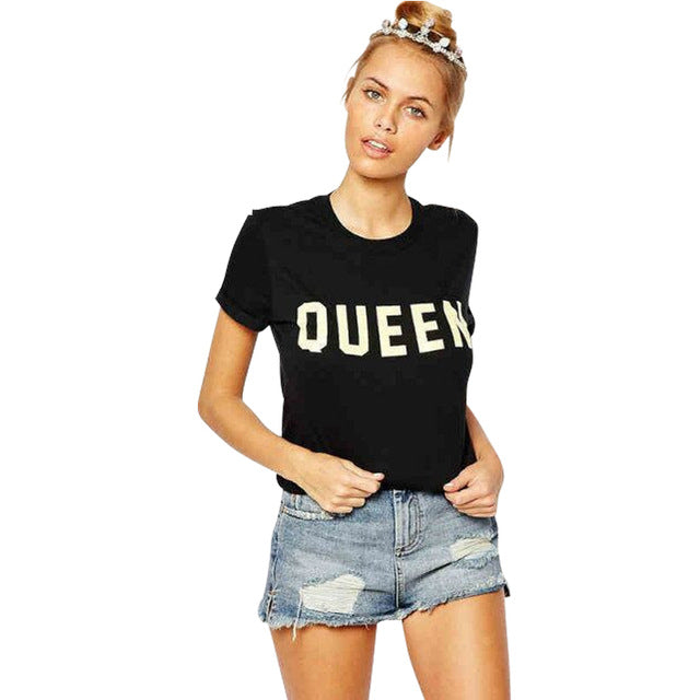 Stylish Women QUEEN  Printed T-shirt