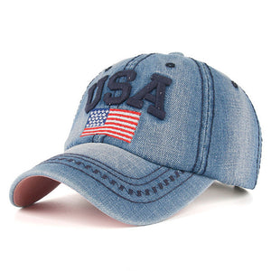 High Quality USA Flag Embroidery Snapback Baseball Cap