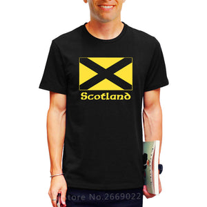 Scotland Flag Printed Mens T-Shirt