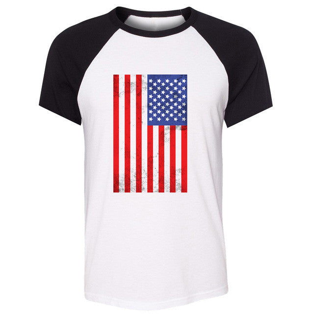 American Flag Vintage Women Distressed T-shirt