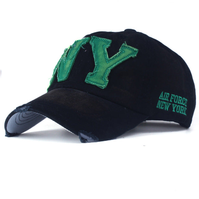 NY Embroidered Baseball Cap