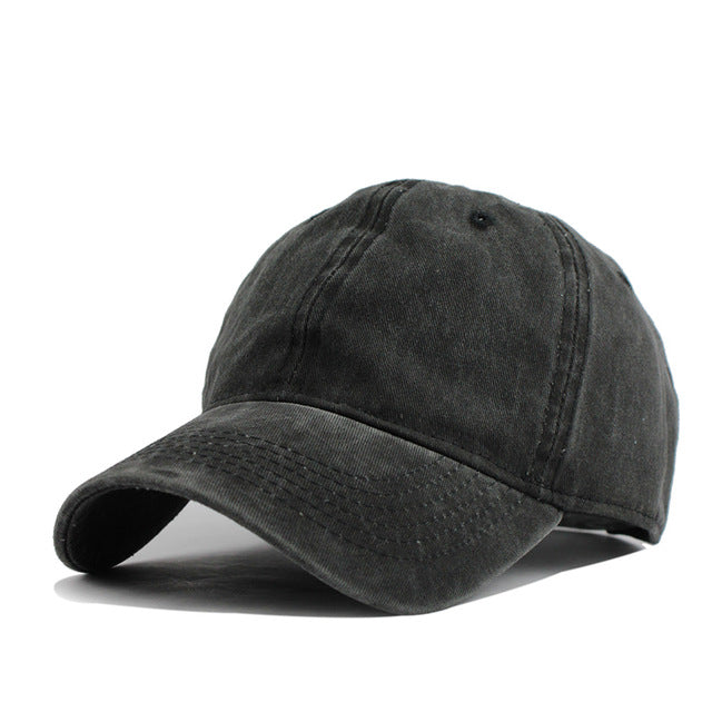 High Quality Washed Cotton Adjustable Baseball Cap