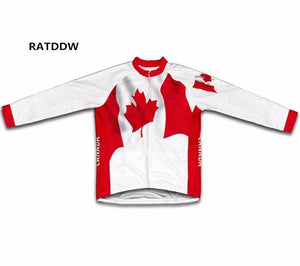 Canada Flag Men's Bike Jersey Jacket