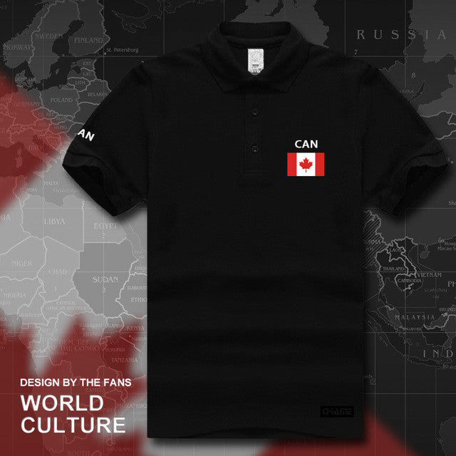 Canada Flag Print Polo Shirt