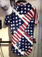 USA Flag  Ripped Oversized T-shirt