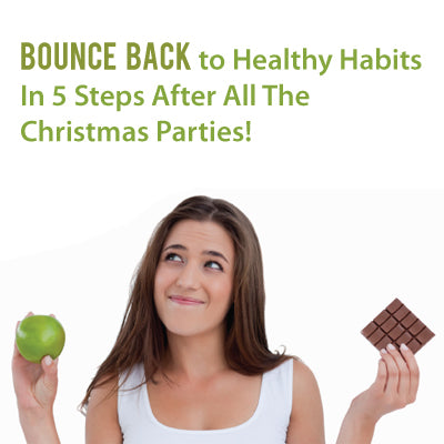 Bounce Back to Healthy Habits in 5 Steps after all the Christmas Parties!