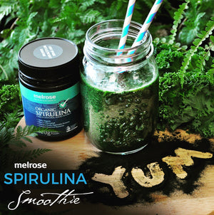 The AOP Smoothie Series:                           Smoothie#2 -Spirulina Power Smoothie