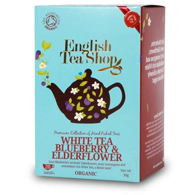English Tea Shop Organic White Tea Blueberry and Elderflower Tea 20 Bags