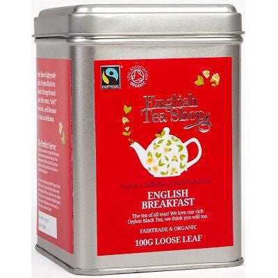 English Tea Shop Organic English Breakfast Loose Leaf Tins 100g