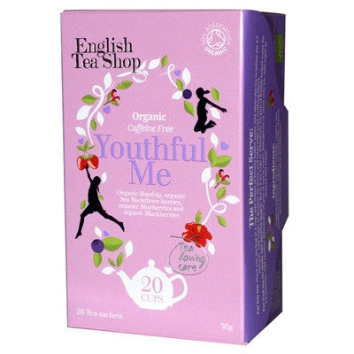English Tea Shop Organic Wellness Youthful Me Tea 20 Bags Old Pack