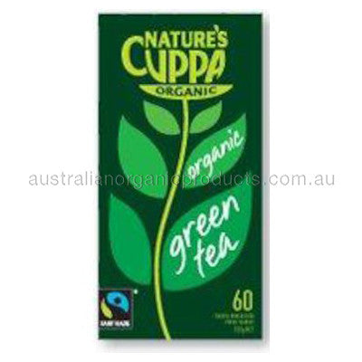 Nature's Cuppa Organic Green Tea 60 tbags