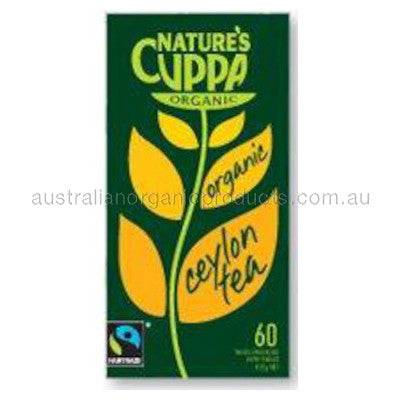 Nature's Cuppa Organic Black Ceylon Tea 60 tbags