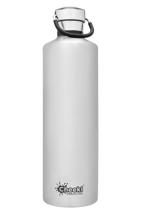 CHEEKI Stainless Steel Bottle Insulated - 1L Silver