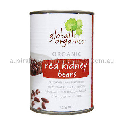 Global Organics Beans Red Kidney Organic (canned) 400g