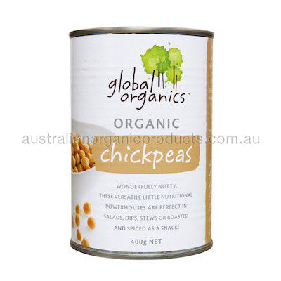 Global Organics Chick Peas Organic (canned) 400g