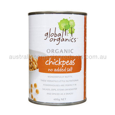 Global Organics Chick Peas No Added Salt Organic (canned) 400g