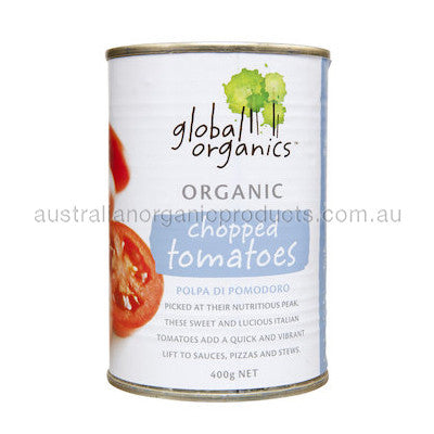 Global Organics Tomatoes Chopped Organic (canned) 400g