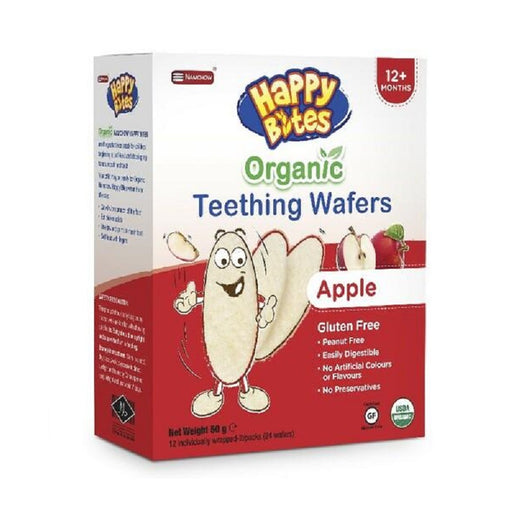 Happy Bites Organic Teething Wafers Apple Flavour