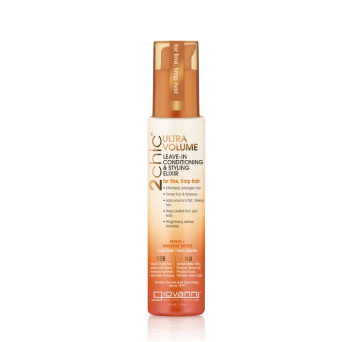 GIOVANNI Organic Leave-in Conditioner - 2chic Ultra-Volume (Fine, Limp Hair) 118ml