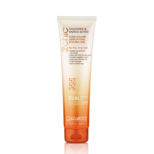 GIOVANNI Organic Styling Gel 2CHIC Ultra-Volume Fine Limp Hair 150ml