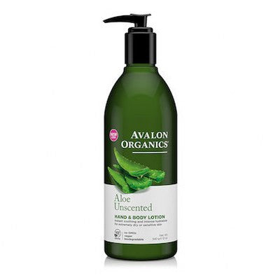 Avalon Organics Hand & Body Lotion Aloe Unscented 350mL