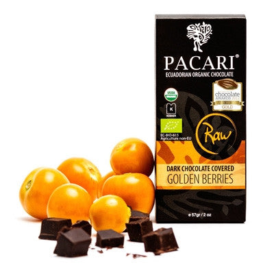 Pacari Raw Organic Chocolate Covered Golden Berries 57g
