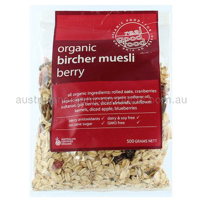 Real Good Food Organic Berry Bircher Muesli (Bag) 500g