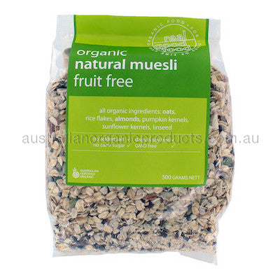Real Good Food Organic Fruit Free Muesli (Bag) 500g