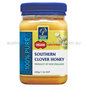 Manuka Health Organic Southern Clover Honey 500g
