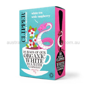 Clipper Organic White Tea with Raspberry 26 tbags