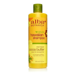 Alba Hawaiian Organic Cocoa Butter Dry Hair Repair Shampoo 355mL