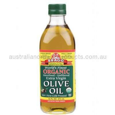 BRAGG Organic Olive Oil Extra Virgin, Unrefined & Unfiltered 473ml