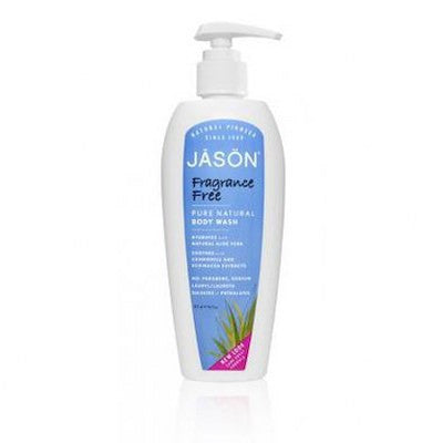 Jason Organic Body Wash Shower Fragrance Free Satin 473mL