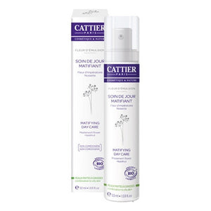 Cattier Matifying Face Cream Combination to Oily Skin Fleur d'Emulsion 50mL