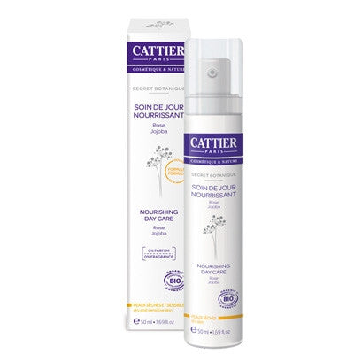 Cattier Nourishing Day Cream Dry & Sensitive Skin Secret Botanique 50mL