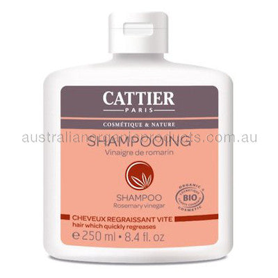 Cattier Shampoo Rosemary Vinegar Regreases Quickly 250mL